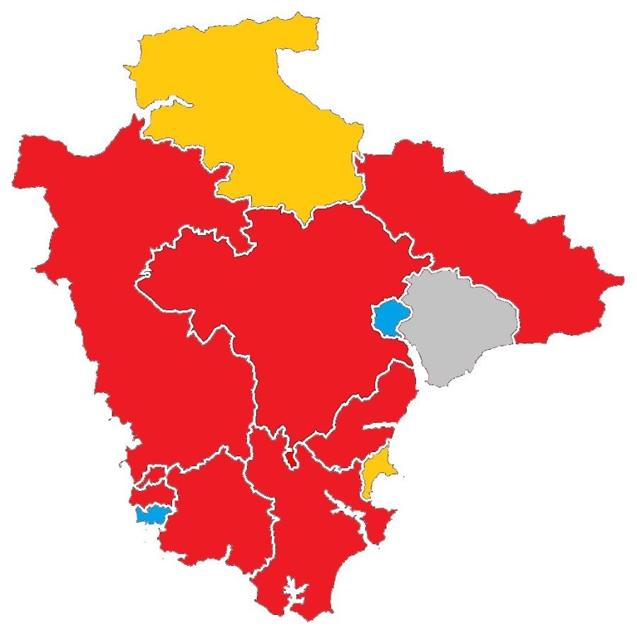Labour second place acrossDevon
